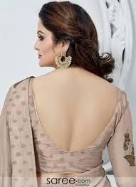 U Neck Saree Blouse Design Mauve Silk Deep U Neck Back Blouse Design Fancy Blouse