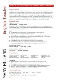 Cv For Teaching Sample English Teacher Cv Resume Orlandomoving Co