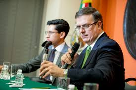 Image result for images of Mexico leaders negotiate with Trump administration's leader on traffits and migration on June 5, 2019