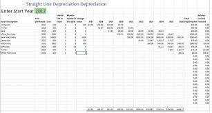 Fixed Asset Depreciation Schedule Depreciation Schedule Free Depreciation Excel Template