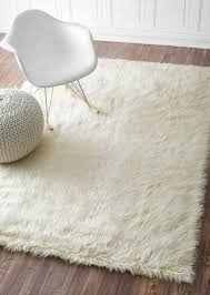 minimalist awesome white faux fur area rug rugs decoration intended house regarding 8