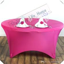 round table covers with elastic cover fuchsia spandex cocktail tablecloths banquet cloth large white tablecloth blue cloths from fitted elasticized