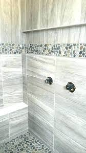 pebble stone shower floor comfortable tile in home design furniture decorating with diy