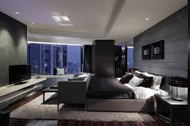 Modern Bedroom For Men Apartment Furniture Men Black Room Design Ideas
