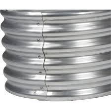galvanized steel round raised garden
