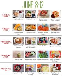 Healthy Meal Plans Livelighter Lunch To Weight Plan Ideas