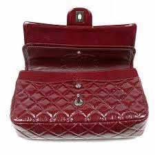 home antiques vintage bags authentic chanel bordeaux patent leather medium double flap bag