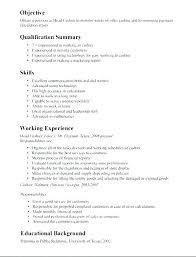 Descriptions For Resumes Resume Job Cashiers Description Best