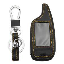 4 ons two way car alarm system leather car key case bag for magicar 5