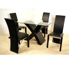 elmdon black circular table and 4 chairs sesigncorp