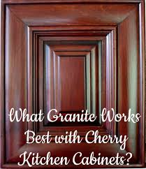 granite cherry cabinets