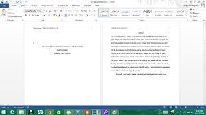 format of an apa paper formatting apa style in microsoft word 2013