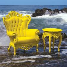 yellow patio furniture. Luigi Armchair By Polart Yellow Patio Furniture