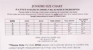 Barijay Size Charts Yris Bridal Design Studio