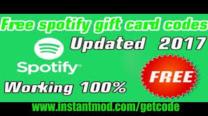 free spotify premium gift card code spotify premium gift card code free spotify gift card redeem