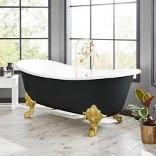 72 lena cast iron clawfoot tub black