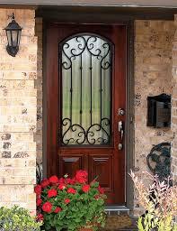 single front doors with glass. Back Door Mahogany Wood Wrought Iron \u0027Valencia\u0027 Arch-Lite Front Single Doors With Glass L