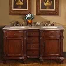 double vanity with top. Silkroad Exclusive Travertine Stone Top Double Sink Bathroom Vanity With Cabinet, 60-Inch S