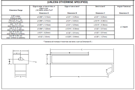 Linear Tolerance Chart Sheet Metal Tolerance Standards Bearing Standard Tolerance