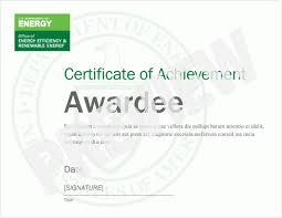 Achievement Awards Certificates Templates Achievement Award Certificate Templates Department Of Energy