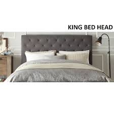 king size head board windsor king size fabric bed head headboard in grey buy king size