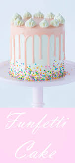 a moist vanilla cake filled with sprinkles coated in silky italian ercream and topped with