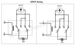 dpdt relay png change motor direction dpdt relay as you can see in the schematic the 12v
