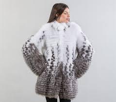 fox fur coatblack n white fox fur jacket