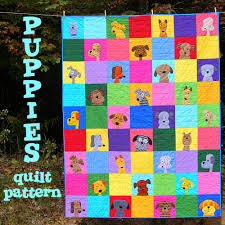 Dog Quilt Patterns Stunning The Puppy Dog Quilt Pattern Is Here Shiny Happy World