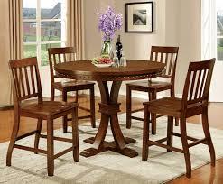 furniture of america cm3437pt 5pc 5 pc foster ii dark oak finish wood 48