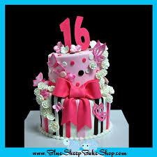Pink And Brown Sweet 16 Birthday Cake Blue Sheep Bake Shop