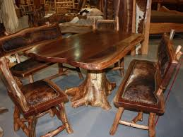 Real Wood Dining Room Furniture  Cteamus - Solid wood dining room tables