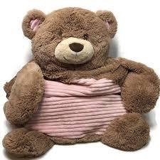 kellytoy baby tummy time teddy bear infant plush floor play mat pillow