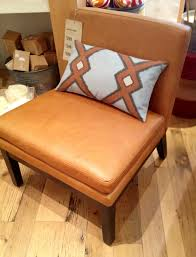 furniture brown leather slipper chair  accent armchair  slipper