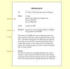 Memorandum Format Template Memorandums Examples Doc Sample Internal