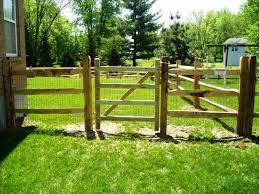 split rail fence gate diy