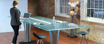 office table desk. Glass Table Desk Tangent Conference Top Office
