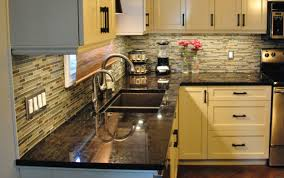 Brown Granite Kitchen Countertops Black And Brown Granite Countertops