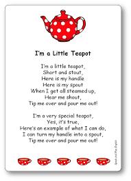 little teapot nursery rhyme song