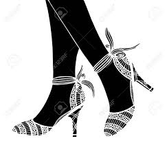 おしゃれな手には概要観賞用の高いヒール靴イラストが描かれました