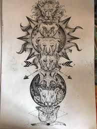 Indean Tattoo Pole Spirit Animal Idea Tattoo эскиз тату