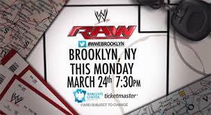 Monday Night Raw Tickets Barclays Center Regal
