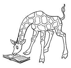 Premium Christmas Giraffe Coloring Pages Printable Coloring Page