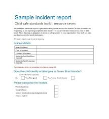 Basic Incident Report Template 60 Incident Report Template Employee Police Generic Template Lab