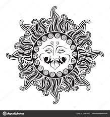 голова медузы горгоны пламени рука нарисованные линии искусства