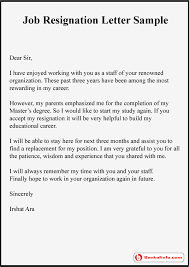 Resign Template Job Resignation Letter Sample Format Template Example
