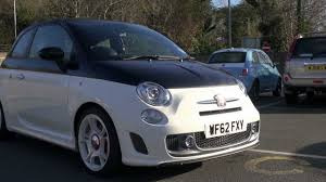 Abarth 595 Turismo Convertible in Black and White with White ...