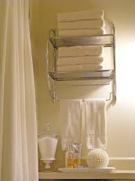 chrome bathroom wall rack with towel bar feat white shower curtain