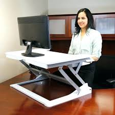 convert existing desk standing converter stand up workstation sitting into adorable icon