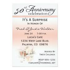 50th Anniversary Party Invitations Surprise 50th Anniversary Party Invitations